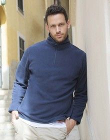 1/4ZIP LIGHT INNER FLEECE      NAVY  L'