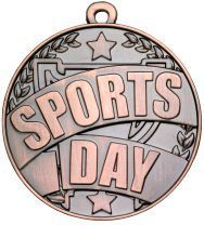 SPORTS DAY MEDAL 50mm ANTIQUE BRONZE
