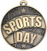 SPORTS DAY MEDAL 50mm ANTIQUE GOLD