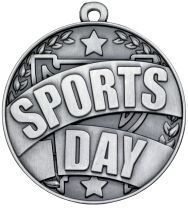 SPORTS DAY MEDAL 50mm ANTIQUE SILVER
