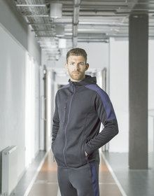 ADULTS ACTIVE SOFTSHELL JACKET DARK GREY MARL/BLACK  S'
