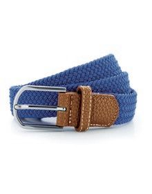 BRAID STRETCH BELT NAVY  L'