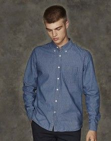 CLASSIC CHAMBRAY SHIRT CHAMBRAY BLUE  XL'