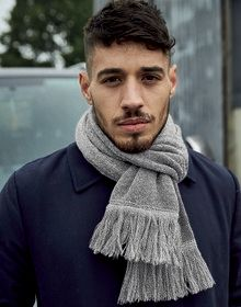 CLASSIC KNITTED SCARF BLACK  L'