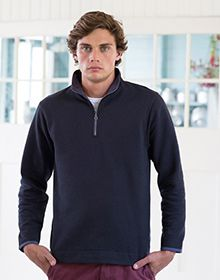 EMERIZED 1/4 ZIP SWEAT         BLACK  M'