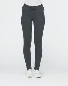 GIRLIE TAPERED TRACK PANT HEATHER  XS'