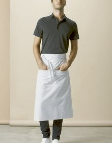 HOSPITALITY LONG APRON WHITE  L'