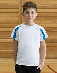 KIDS CONTRAST COOL T ARCTIC WHITE/FIRE RED  XL'
