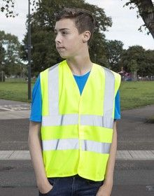 KIDS HIGH VISIBILITY VEST      FLUORESCE YELLOW  M'