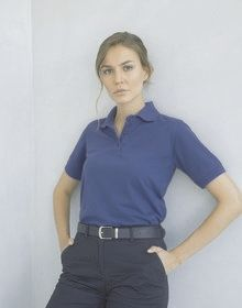 LADIES 65/35 CLASSIC POLO CHARCOAL  XXXL'