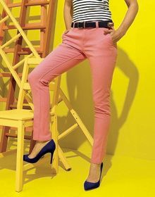 LADIES CLASSIC FIT CHINO NAVY  L'