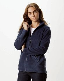 LADIES FULL ZIP FLEECE BLACK  XS'
