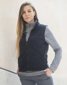 LADIES SLEEVELESS MICRO FLEECE BLACK  L'