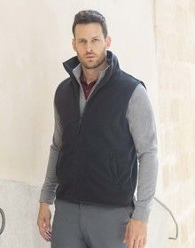 SLEEVELESS MICRO FLEECE JACKET BLACK  M'